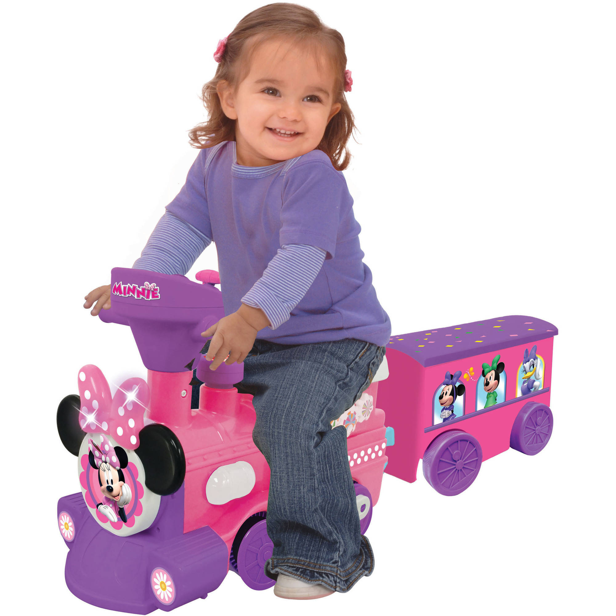 Disney Minnie Mouse 2-in-1 Battery-Powered Train with Trailer