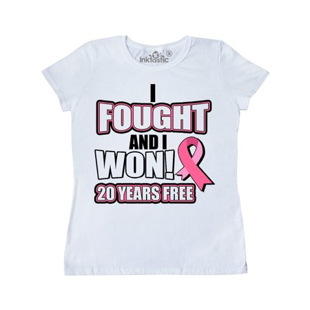 I Fought And I Won! 20 Years Breast Cancer Free Pink Ribbon Women's (Blackhead On Breast That Won T Go Away)