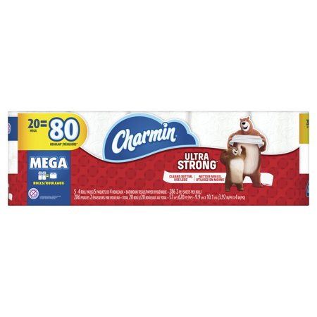 Charmin Ultra Strong Toilet Paper 20 Mega Roll ()