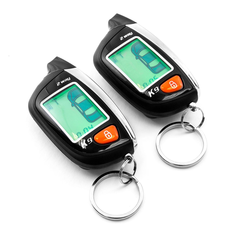2-Way Car Alarm Security Alarm with LCD Status Display and Remote Engine Start for Chevy Camaro Van Cavalier Chevette Cobalt Kodiak - image 4 de 5