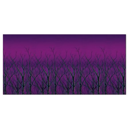 Pack of 6 Spooky Forest Treetops at Dusk Backdrop Halloween Party Decorations 30' - Halloween Forest Hills Ny