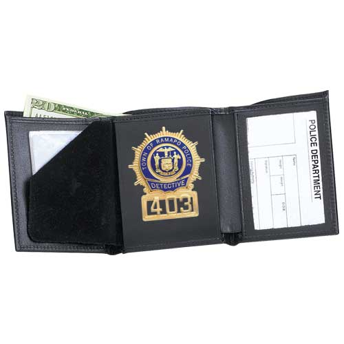 Strong Leather Company 79800-10132 Tri-Fold Badge Wallet - 79800-10132 - Strong Leather Company