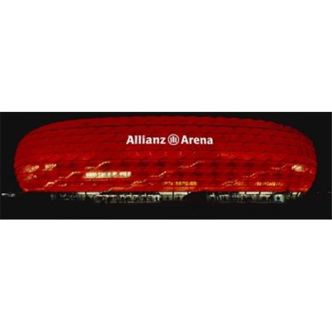 Panoramic Images PPI92399L Soccer Stadium Lit Up At Night  Allianz Arena  Munich  Germany Poster Print by Panoramic Images - 36 x 12