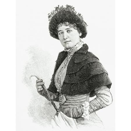 Gertrude Kingston 1862 Stretched Canvas - Ken Welsh  Design Pics (13 x