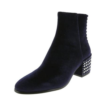 Dolce Vita Women's Mazey Navy Velvet High-Top Boot - 7M ()
