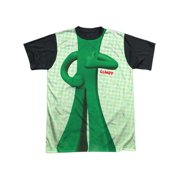Gumby 1960's Claymation TV Series Body Costume Adult Black Back T-Shirt