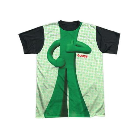 Gumby 1960's Claymation TV Series Body Costume Adult Black Back T-Shirt (Hugh Hef Costume)
