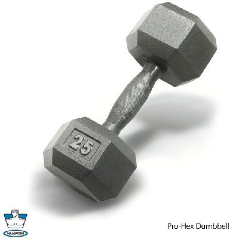 Hampton Fitness 50 lb. Hampton DURA-BELL (Urethane Hexago...