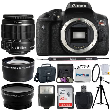 Canon EOS Rebel T6i SLR Camera + 18-55mm STM Lens + Top Value
