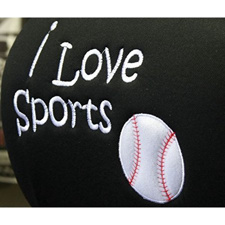 New Interchangeable I Love Sports Baseball Car Seat Headrest Cover Universal Fit for Cars Vans Trucks - One Piece Great Gift Idea Shipping Included](Vans Gifts)