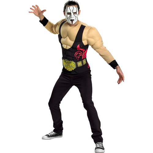 Sting Classic Muscle Adult Halloween Costume - One Size XL 42-46