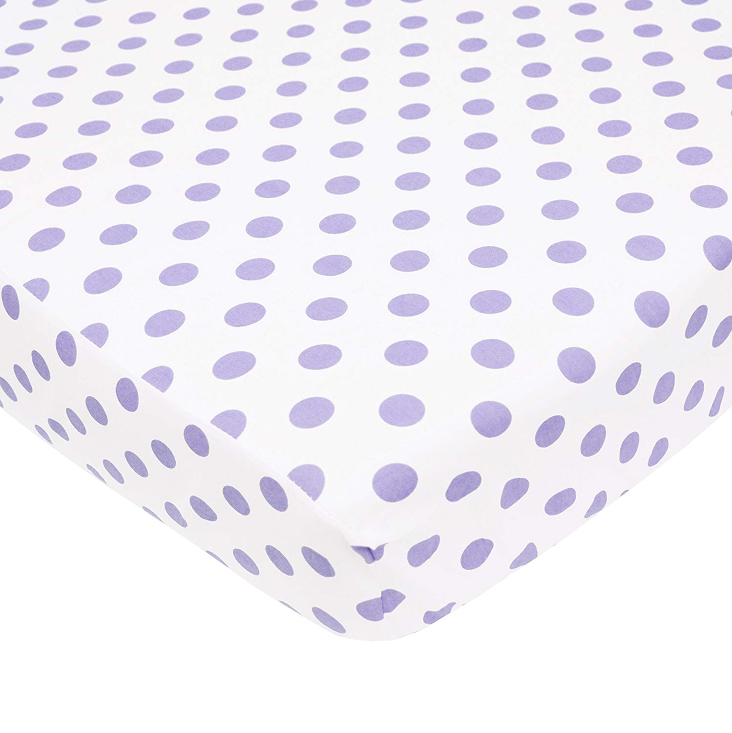 TL Care® 100% Cotton Percale Fitted Crib Sheet
