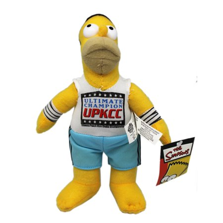 The Simpsons Homer Wearing UPKCC Shirt Stuffed Toy (9in) (Simpsons Halloween Burger King Toys)