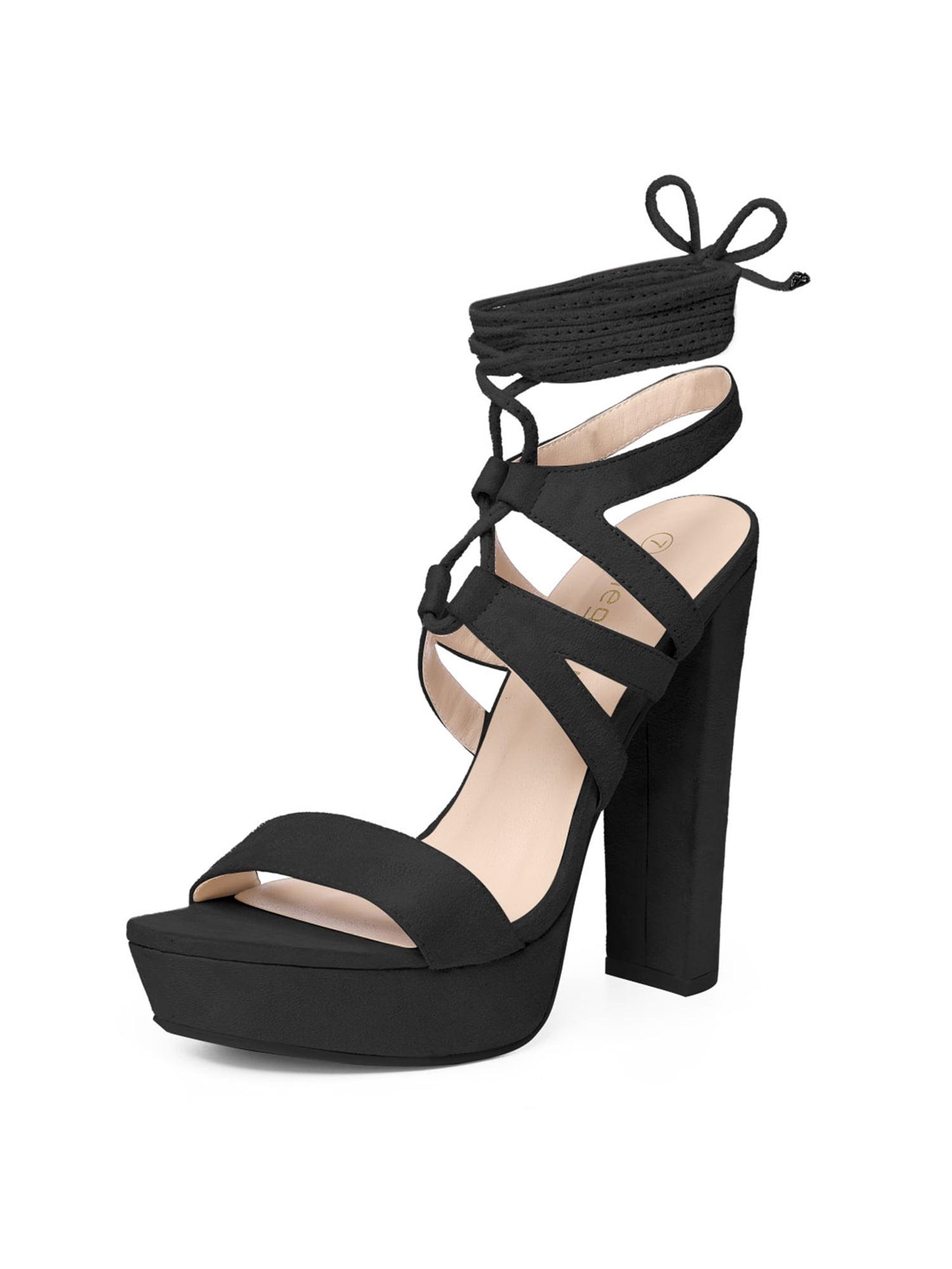 block heel lace up heels