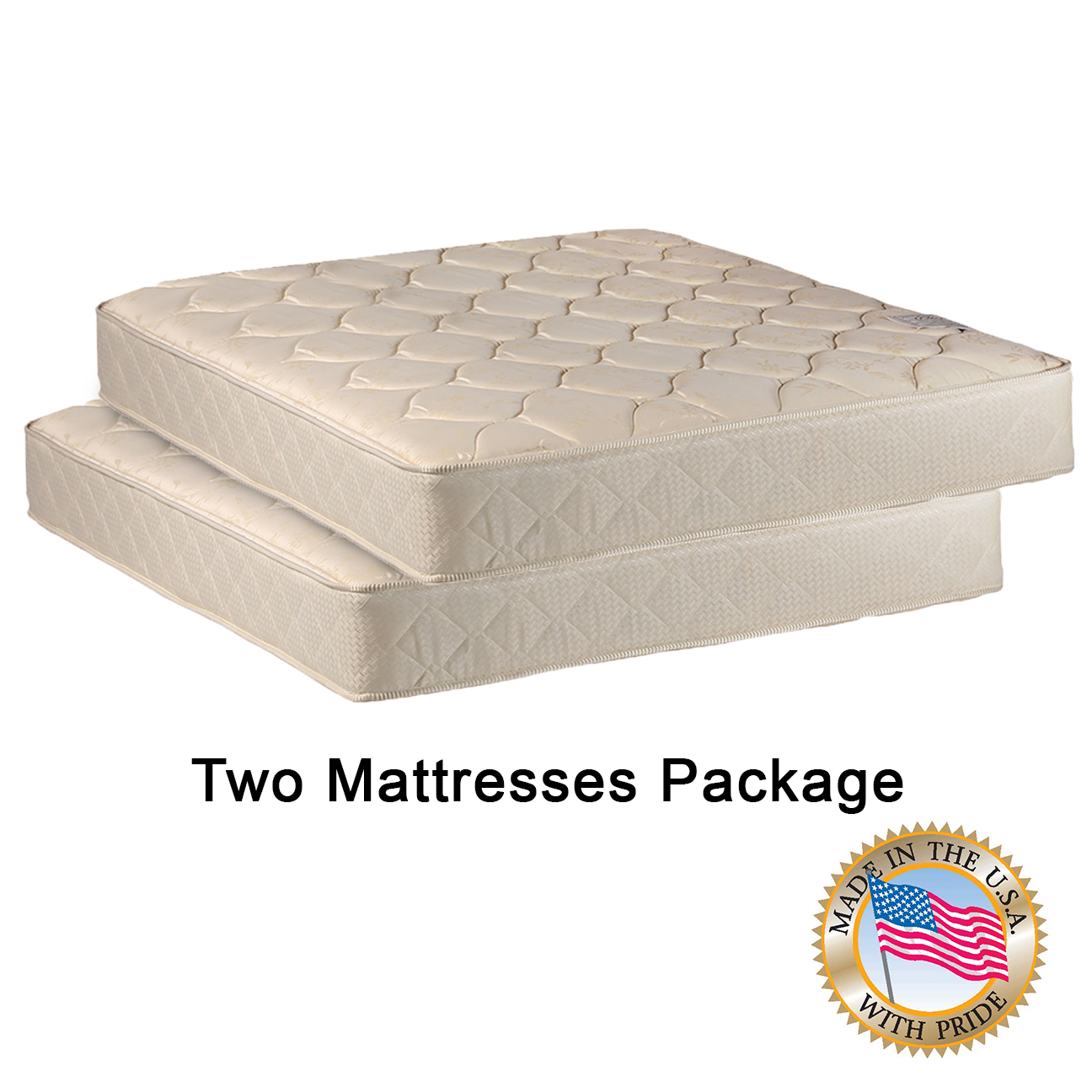 Two Twin Mattresses Package for Bunk Bed or Trundle Bed