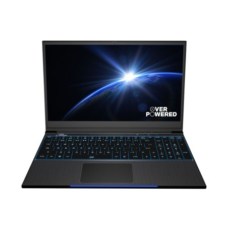 OVERPOWERED Gaming Laptop 15+, 2 Year Warranty, 144Hz, Intel i7-8750H,  NVIDIA GeForce GTX 1060, Mechanical LED Keyboard, 256 SSD, 1TB HDD, 16GB  RAM,