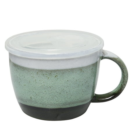 29 oz Soup Cup with Vented Lid, (Melamine Soup Mug)