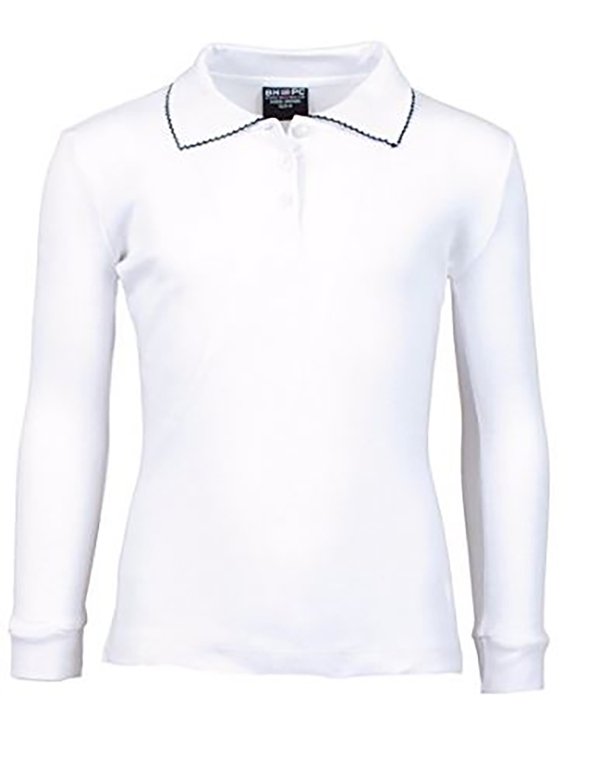 Girl's Uniform Long Sleeve with Contrast Trim Polo