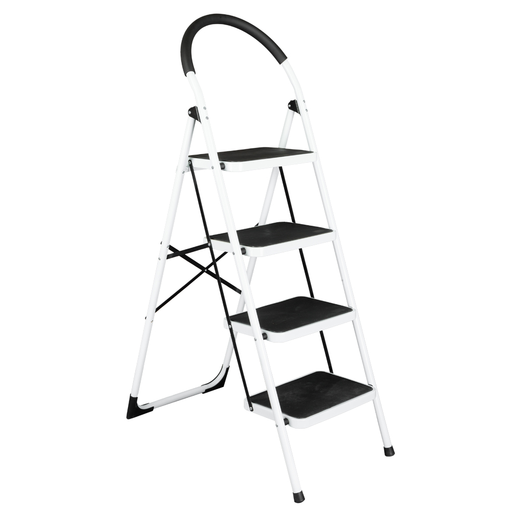 Brilliant Zimtown 4 Step Ladder Large Heavy Duty Industrial Folding Collapsible Aluminum Step Stool Platform Ladder For Kitchen Office Bathroom And Garage Caraccident5 Cool Chair Designs And Ideas Caraccident5Info