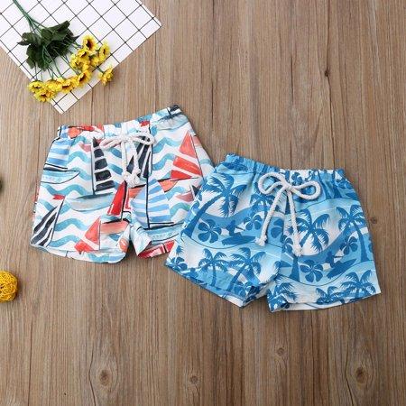 Kid Baby Boys Summer Elastic Waistband Short Pants Beach Shorts