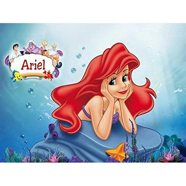1/4 Sheet Little Mermaid Ariel Edible Frosting Cake Topper ...