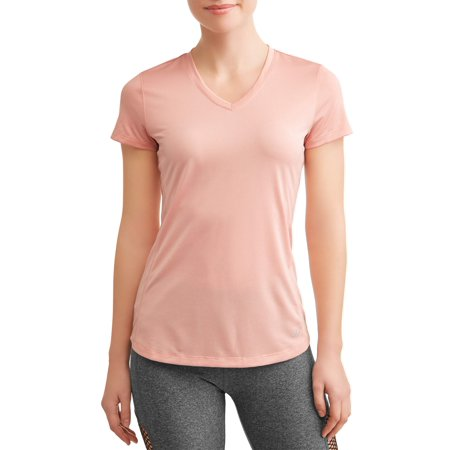 Anvil Short Sleeve Sport Shirt (Women's Active V-Neck Short Sleeve Mesh Performance T-Shirt )