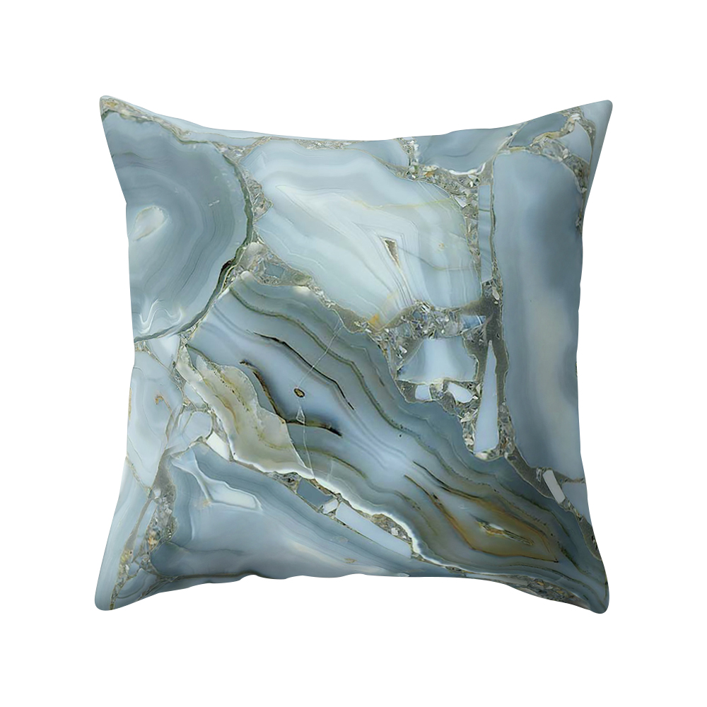 Personalized Custom Name Girly Square Pillow White Black Marble Details about  /Marble Cushion