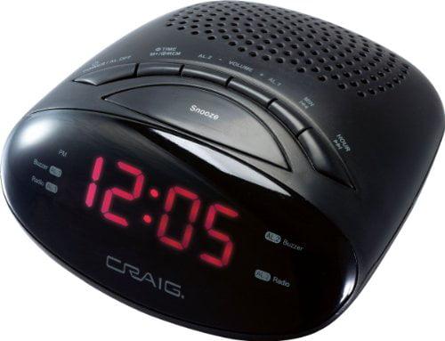 Alarm Clock Radio, Craig , CR45329B by CRAIG ELECTRONICS INC