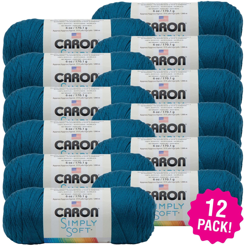 Caron Simply Soft Solids Yarn - Ocean, Multipack of 12