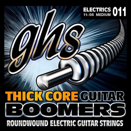 GHS HC-GBM Thick Core Boomers, Electric Guitar, Medium, 11-56