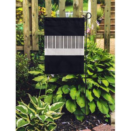 POGLIP Music Piano Keys 76Keys Artistic Black Classic Classical Ebony Entertainment Garden Flag Decorative Flag House Banner 28x40 inch - image 1 of 2