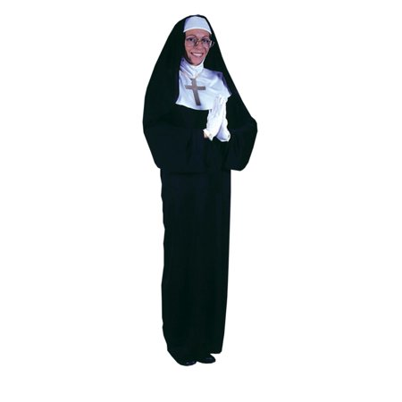 Mob Halloween Costumes (Black and White Mother Superior Nun Women Adult Halloween Costume -)