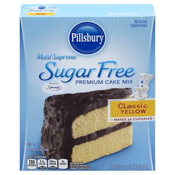 Pillsbury Moist Supreme Classic Yellow Sugar Free Premium Cake Mix, 16 oz