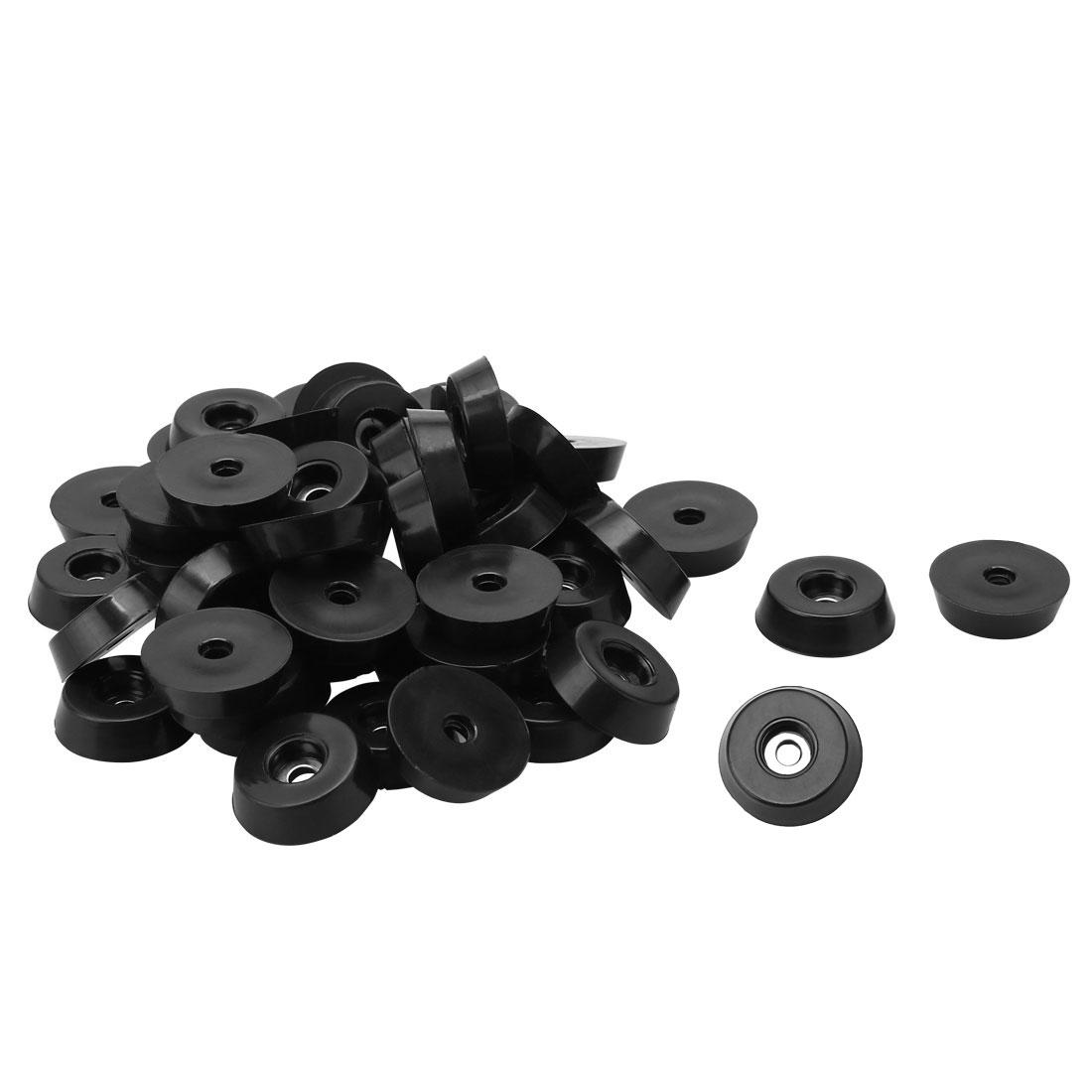 40pcs Rubber Feet Bumper Buffer Cutting Board Pad with Metal Washer, D18x15xH5mm - image 7 de 7