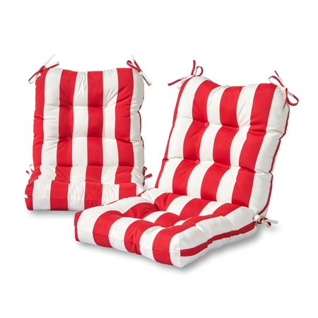 - Greendale Home Fashions Cabana Stripe Outdoor Chair Cushion, Set of 2