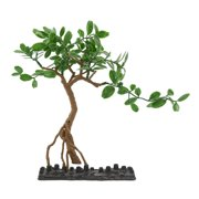 Aqua Fish Tank Green Tree Decor Ornament With Plastic Base 16x6x26cm