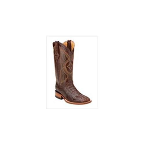 Ferrini 8049323060B Ladies Caiman Square Toe Boots, Sport Rust 6B by