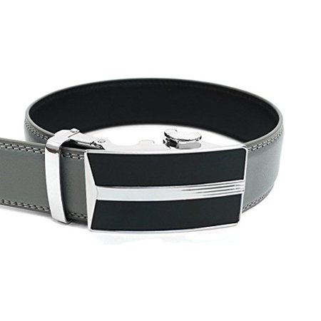 Men's Leather Ratchet Belt with Best Angle Automatic Buckle