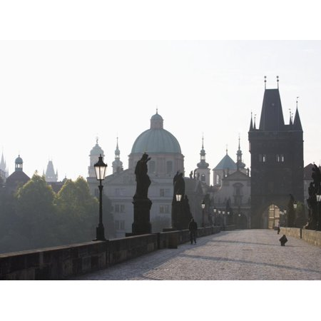 Charles Bridge, Church of St. Francis Dome, Old Town Bridge Tower, Old Town, Prague, Czech Republic Print Wall Art By Martin (St Charles Town Center)