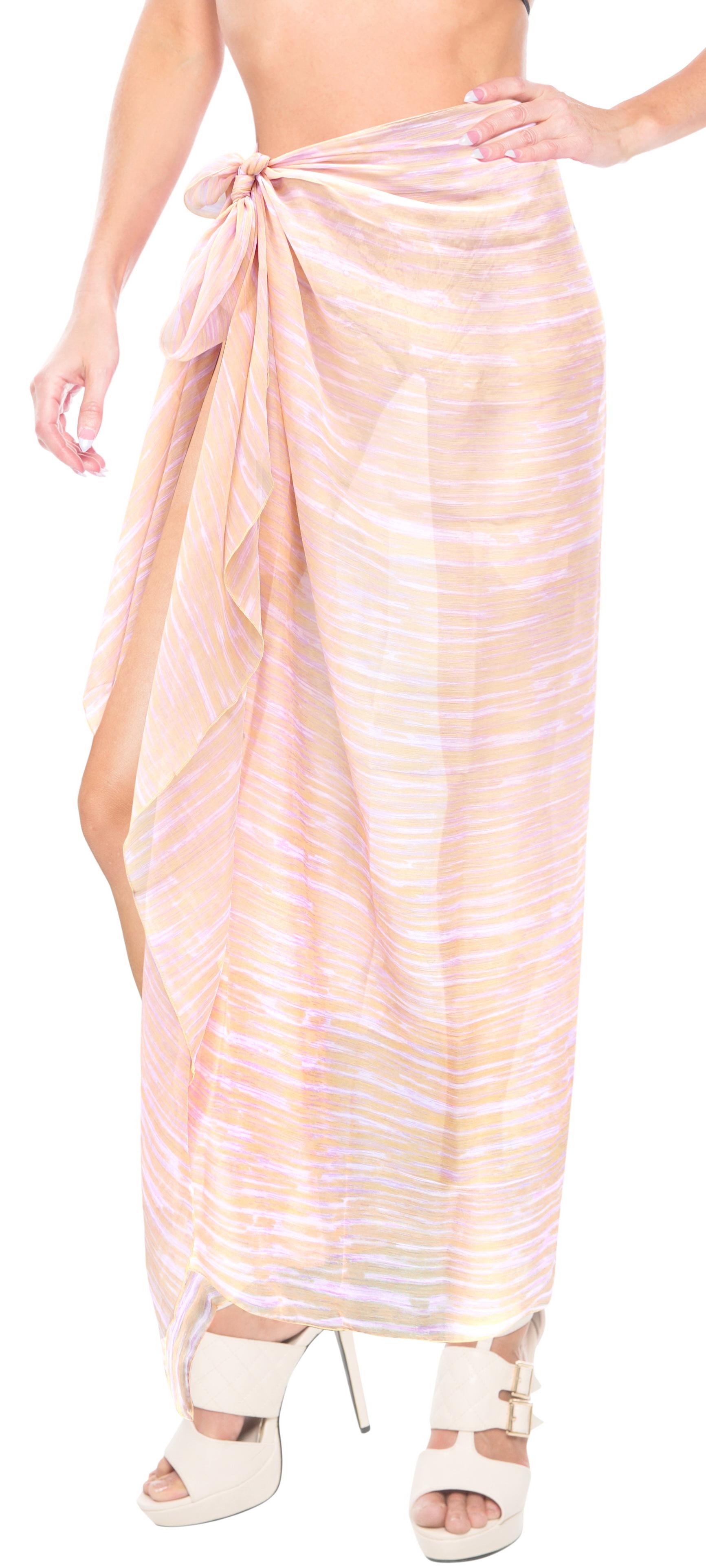 11704c379e481 LA LEELA Wrap Cover ups Sarong Beach Swimwear Dress Skirt Pareo Bathing