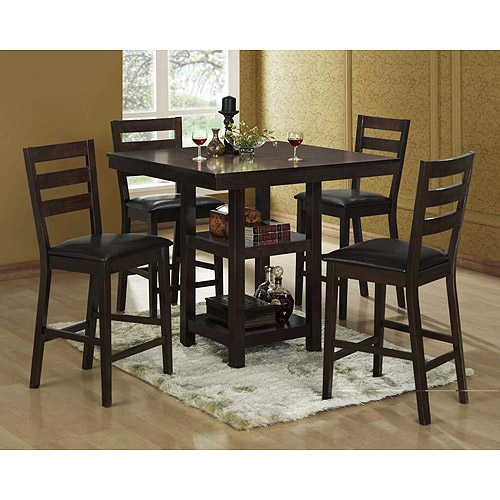 Bunker Hill 5-Piece Counter-Height Dining Set, Espresso