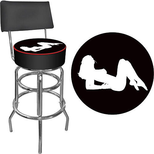 Shadow Babes 'A Series' Padded Swivel Bar Stool with Back