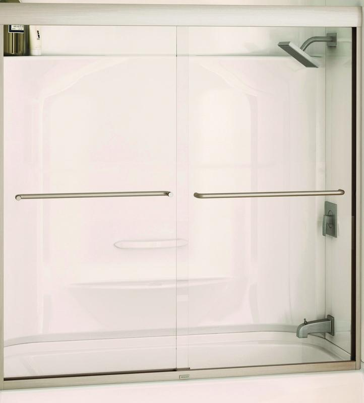 Maax 135661-900-305 Semi-Frameless Bathtub Door, 55 - 59 ...