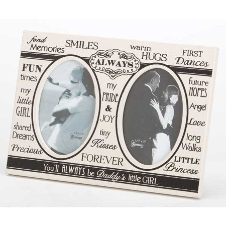 Roman Wedding Collection 75595 Daddy's Little Girl Wedding Double Photo Frame