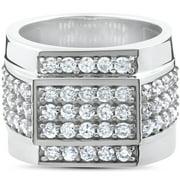2 ct Mens Diamond Ring 10K White Gold