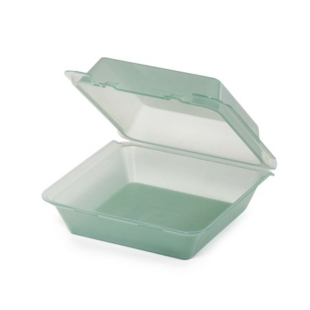9 Inch Single Compartment Plastic Container - G.E.T. 1 Compartment Jade Polypropylene Eco-Takeout Container - 9