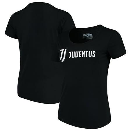 Juventus Jersey (Juventus Levelwear Women's Capital Script T-Shirt - Black)