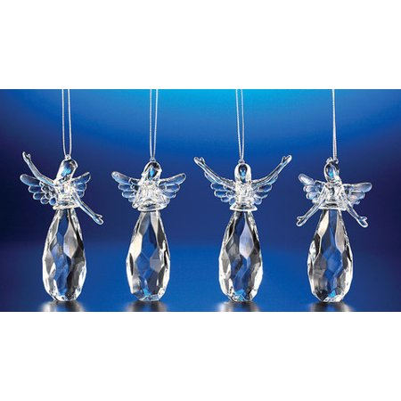 Club Pack of 24 Icy Crystal Assorted Christmas Praising Angel Ornaments 4