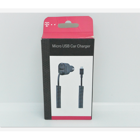 New OEM T-Mobile 3.4A Black Micro USB Car Charger