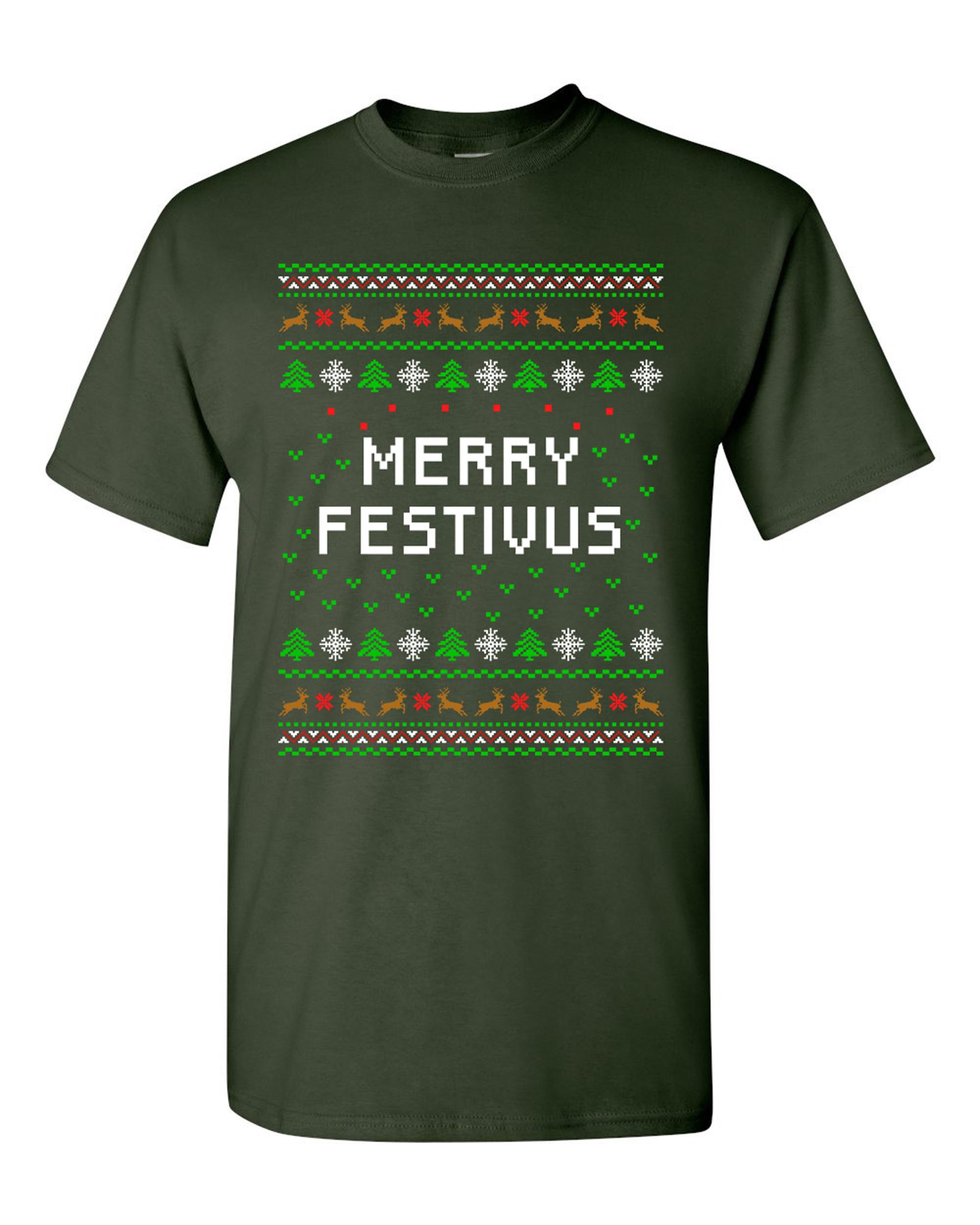Merry Festivus Ugly Christmas Season Parody Funny DT Adult T-Shirt Tee